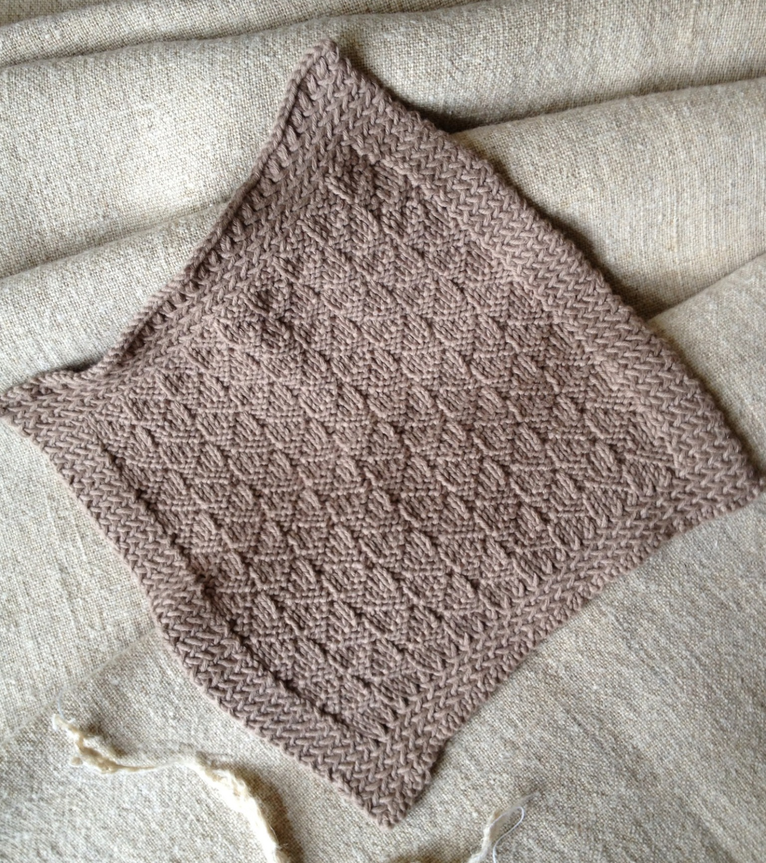 hand-knit pattern by Karen Turnbull